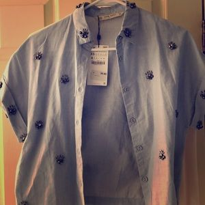 Brand new gemstone shirt from Zara